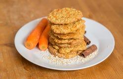 Biscotti della carota Immagine Stock
