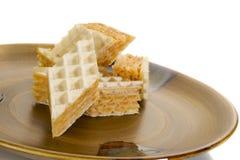 Biscotti della cialda immagine stock