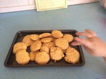 Biscotti della crema Fotografia Stock