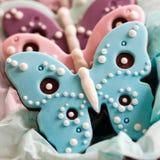 Biscotti della farfalla fotografie stock