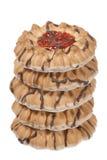 Biscotti della gelatina con cioccolato Fotografia Stock