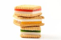 Biscotti della gelatina della spugna Immagini Stock Libere da Diritti