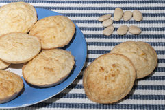 Biscotti della mandorla senza glutine Fotografia Stock Libera da Diritti