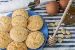 Biscotti della mandorla senza glutine Fotografia Stock