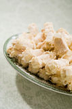 Biscotti della meringa della mandorla Fotografie Stock Libere da Diritti