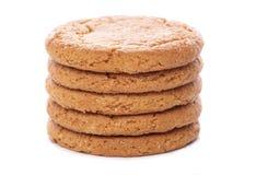Biscotti della noce dello zenzero Fotografia Stock Libera da Diritti