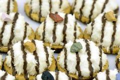 Biscotti della noce di cocco Immagini Stock