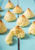 Biscotti della noce di cocco sotto forma di tartufi Fotografia Stock Libera da Diritti