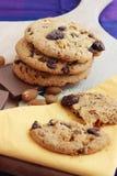 Biscotti della noce e del cioccolato Fotografia Stock Libera da Diritti