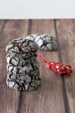 Biscotti della piega al Natale Immagine Stock Libera da Diritti