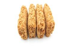 Biscotti della prima colazione del frumento Fotografie Stock Libere da Diritti