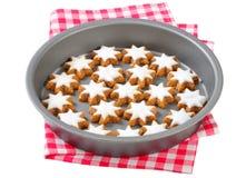 Biscotti della stella della cannella Fotografia Stock