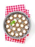Biscotti della stella della cannella Fotografia Stock Libera da Diritti