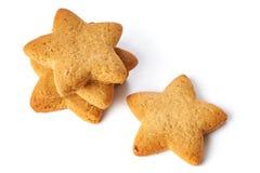 Biscotti della stella isolati Fotografie Stock