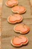 Biscotti della zucca fotografie stock libere da diritti