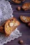 Biscotti della zucca con le nocciole Immagine Stock