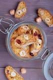 Biscotti della zucca con le nocciole Fotografie Stock