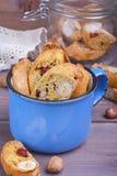 Biscotti della zucca con le nocciole Fotografia Stock Libera da Diritti