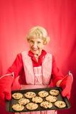 Biscotti delle nonne con Copyspace Immagine Stock