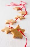 Biscotti delle stelle di Natale Fotografia Stock