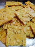 Biscotti dello scorrevole delle mandorle fotografia stock libera da diritti