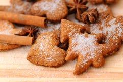 Biscotti dello zenzero Immagine Stock