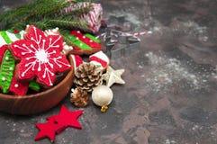 Biscotti dello zenzero di Natale immagine stock libera da diritti