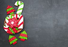 Biscotti dello zenzero di Natale fotografie stock