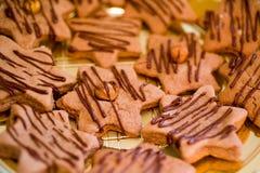 Biscotti dello zenzero di natale immagini stock