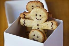 Biscotti dello zenzero nella casella Fotografia Stock Libera da Diritti