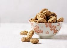 Biscotti di Amaretti fotografie stock libere da diritti