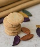 Biscotti di biscotto al burro butirrosi Fotografia Stock Libera da Diritti