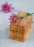 Biscotti di biscotto al burro casalinghi Fotografia Stock Libera da Diritti