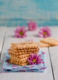 Biscotti di biscotto al burro casalinghi Fotografia Stock