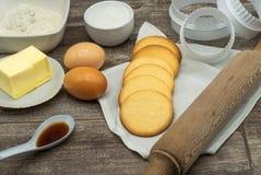 Biscotti di burro fotografia stock