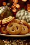 Biscotti di burro danesi per le feste Fotografia Stock Libera da Diritti