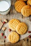 Biscotti di burro di arachidi Fotografia Stock Libera da Diritti