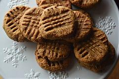 Biscotti di burro di arachidi liberi del glutine Fotografia Stock