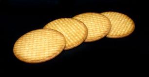 Biscotti di burro dolci su fondo - alimento popolare fotografie stock libere da diritti