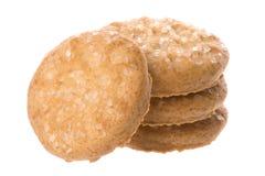 Biscotti di burro a macroistruzione Immagini Stock Libere da Diritti