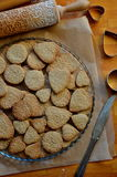 Biscotti di burro per la festa della mamma Fotografia Stock Libera da Diritti