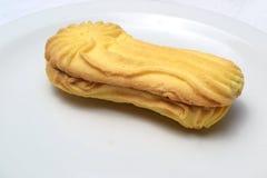 Biscotti di burro su bianco Fotografia Stock Libera da Diritti