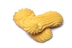 Biscotti di burro su bianco fotografie stock libere da diritti