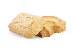 Biscotti di burro sul fondo di isolamento Immagine Stock