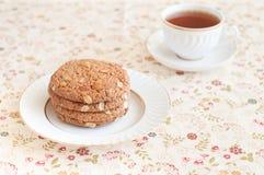 Biscotti di farina d'avena Fotografie Stock Libere da Diritti