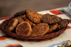 Biscotti di farina d'avena Fotografia Stock