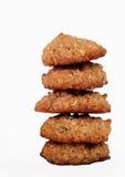Biscotti di farina d'avena casalinghi Immagini Stock