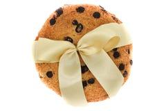 Biscotti di farina d'avena con le gocce di cioccolato immagine stock