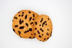 Biscotti di farina d'avena con le gocce di cioccolato fotografie stock libere da diritti