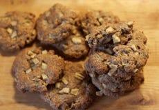 Biscotti di farina d'avena con le mele Fotografie Stock Libere da Diritti